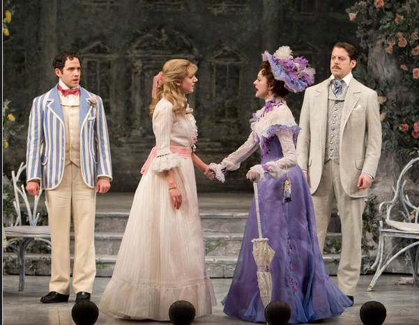 David Furr, Charlotte Parry, Sara Topham and Santino Fontana